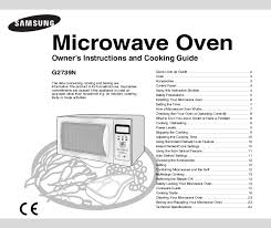 manual for a microwave oven