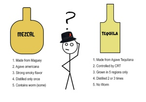 mezcal and tequila difference