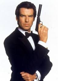 Pierce Brosnan as tuxedo wearing James Bond