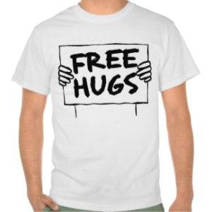 t-shirt 'Free Hugs'