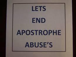 misuse an apostrophe