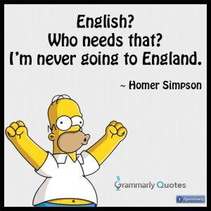 Homer Simpson English