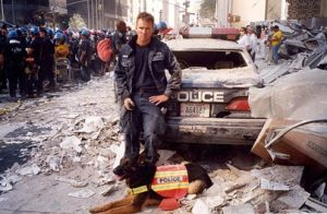 Trakr, a German shepherd survivor detection dog, made history when he became the dog that found the last survivor of the World Trade Center attack on September 11