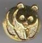 wwf gold lapel badge