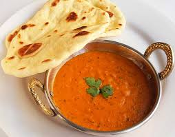 curry with naan bread