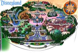 Disney's 'Main Street' and 'Tomorrowland' map
