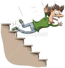 fall down stairs cartoon