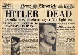 Hitler dead headline