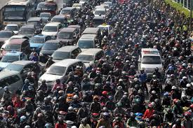 Indonesia traffic jam