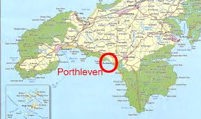 map Porthleven in Cornwall