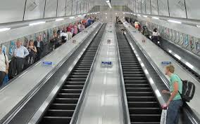 escalators in London's underground