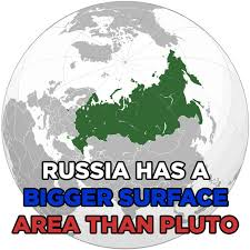 Russia's surface area