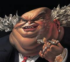 bankster caricature