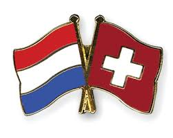 Switzerland and the Netherlands flags
