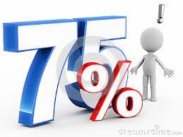 75 percent