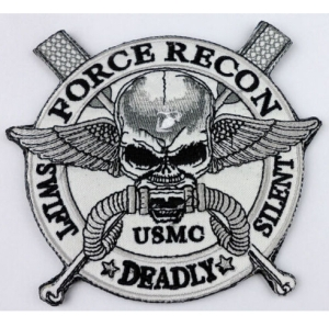 BZ0069-11CM-USMC-Force-Recon-Swift-Silent-Deadly-Velcro-Patch-USMC-Velcro-Patch-Skull-Wings
