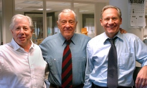 Carl Bernstein, Ben Bradlee, Bob Woodward