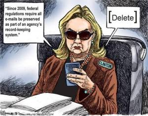 hillary clinton email scandal cartoon