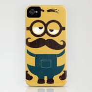 phone with moustache