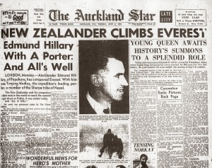 Sir Edmund Hillary, conqueror of Mount Everest - the Aukland Star